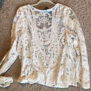 3a5fa46d4cd Annabelle Tops - Rodeo western lace top